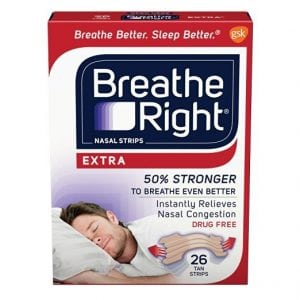 Anti snore nasal strips