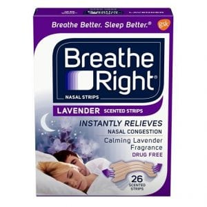Breathe Right Lavender Tan Nasal Strips