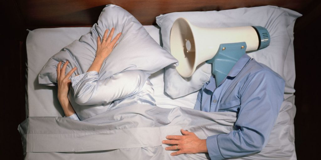 Picture of a heavy snoring man