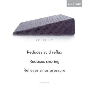 Malouf-z-anti-snoring-wedge-pillow-functionality-review-by-snoremagazine