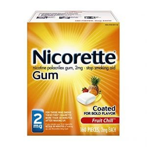 Nicorette Nicotine Gum Fruit Chill 2 milligram Stop Smoking Aid 160 count review by SnoreMagazine
