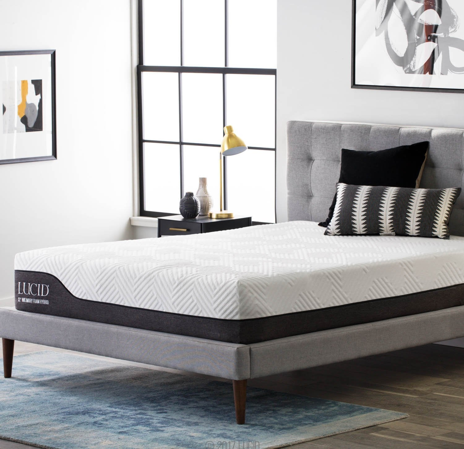 LUCID best hybrid mattress reviews by www.snoremagazine.com