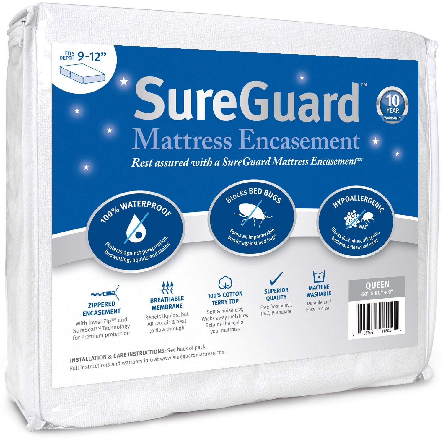 Sure Guard Best Mattress Protectors Review by www.snoremagazine.com