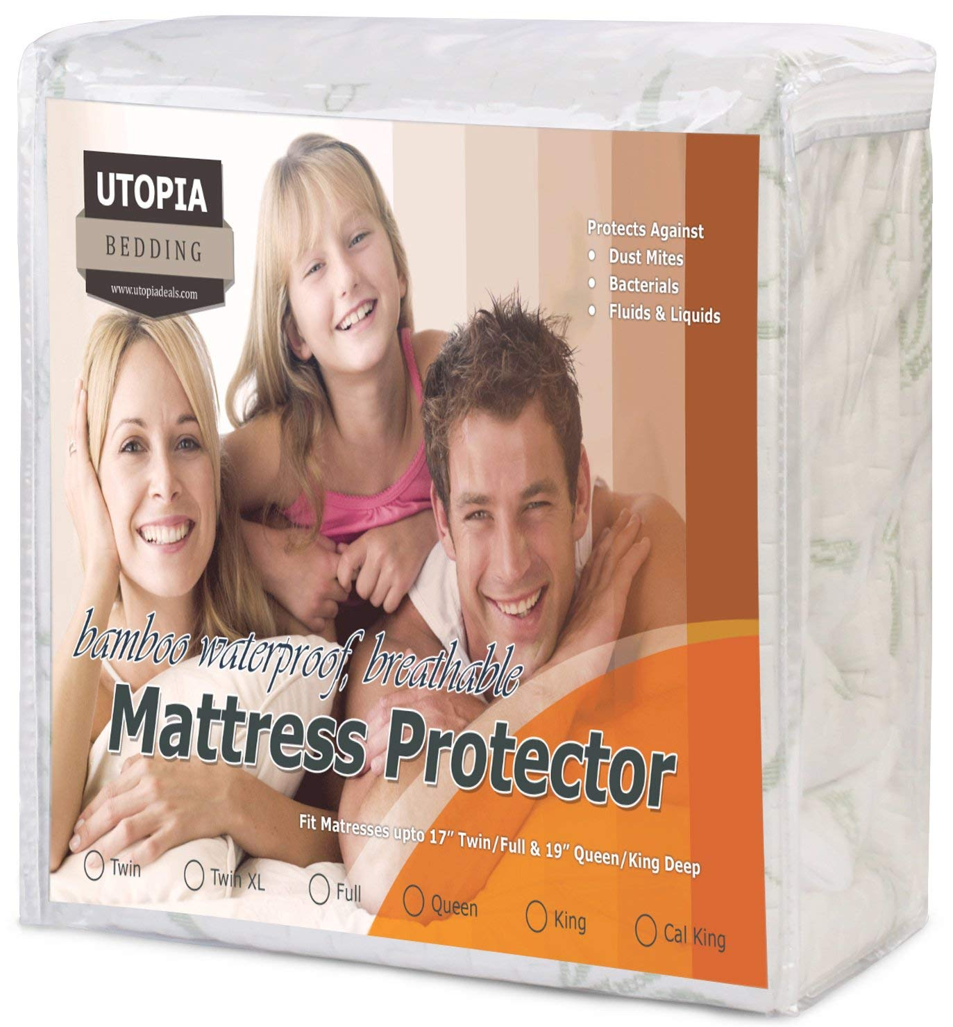 Utopia Bedding Best Bamboo Mattress Protectors Review by www.snoremagazine.com