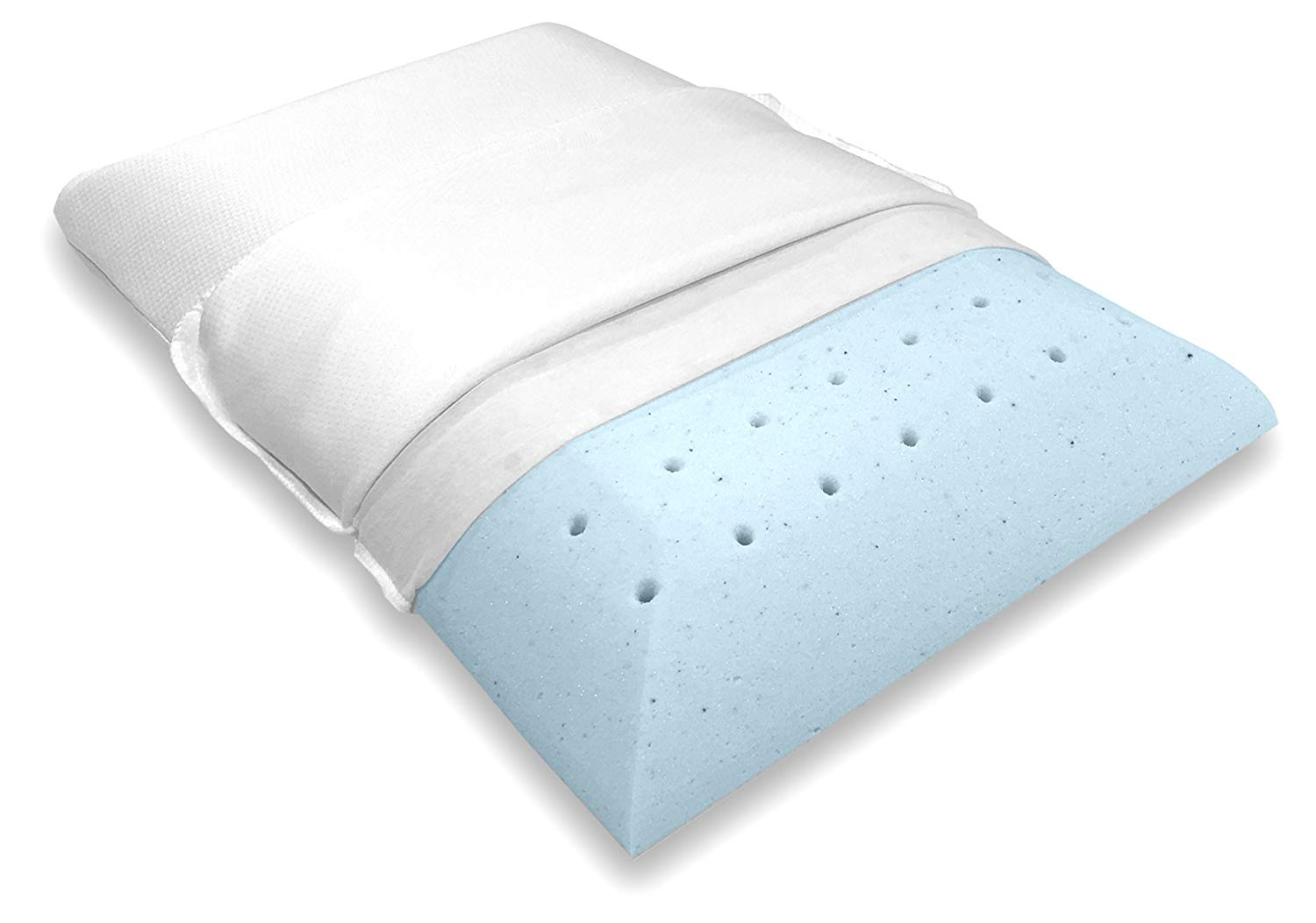 Bluewave Bedding Flat Pillow Review by www.snoremagazine.com