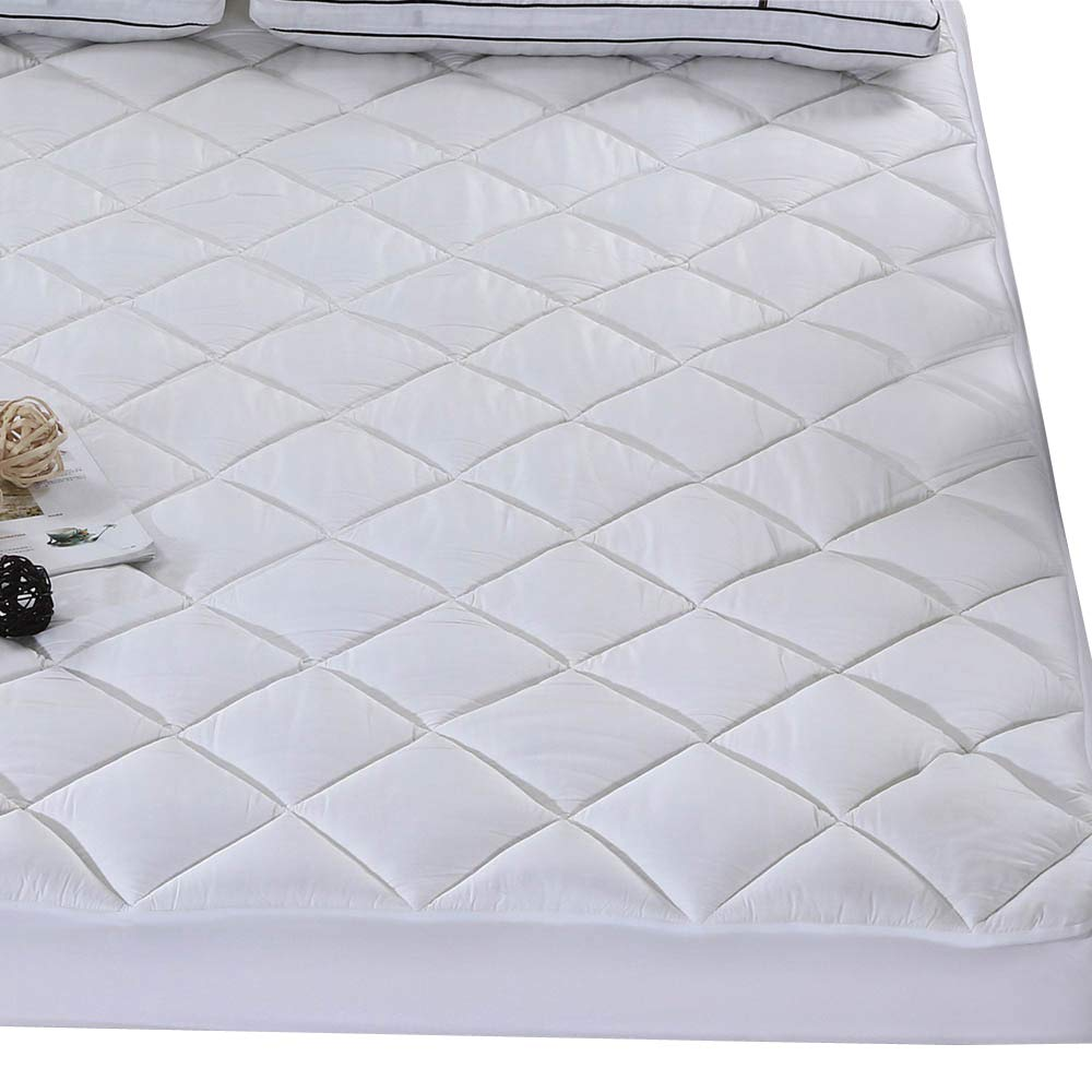 Bamboo Fitted Quilted Mattress Pad Cover Full size Pillowtop Hypoallergenic Down Alternative Mattress Topper Review by www.snoremagazine.com