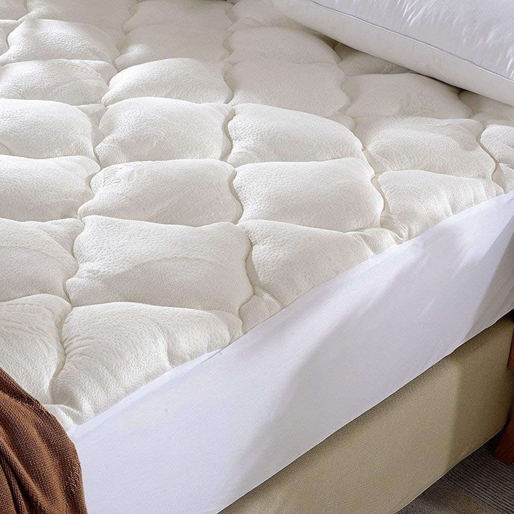 Cheer Collection Ultra Plush Eco-Friendly Hypoallergenic Bamboo Fitted Mattress Topper Review by www.snoremagazine.com