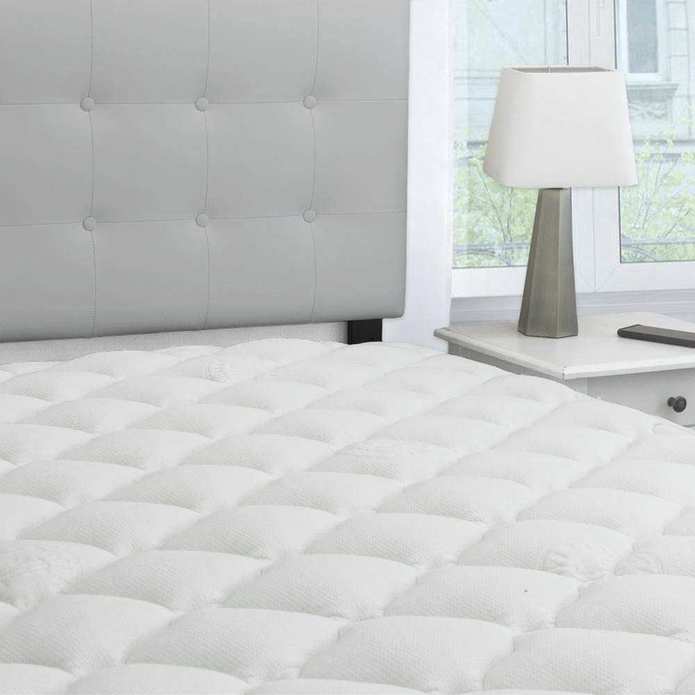 eLuxurySupply Rayon from Bamboo Extra Thick Mattress Pad with Fitted Skirt Review by www.snoremagazine.com