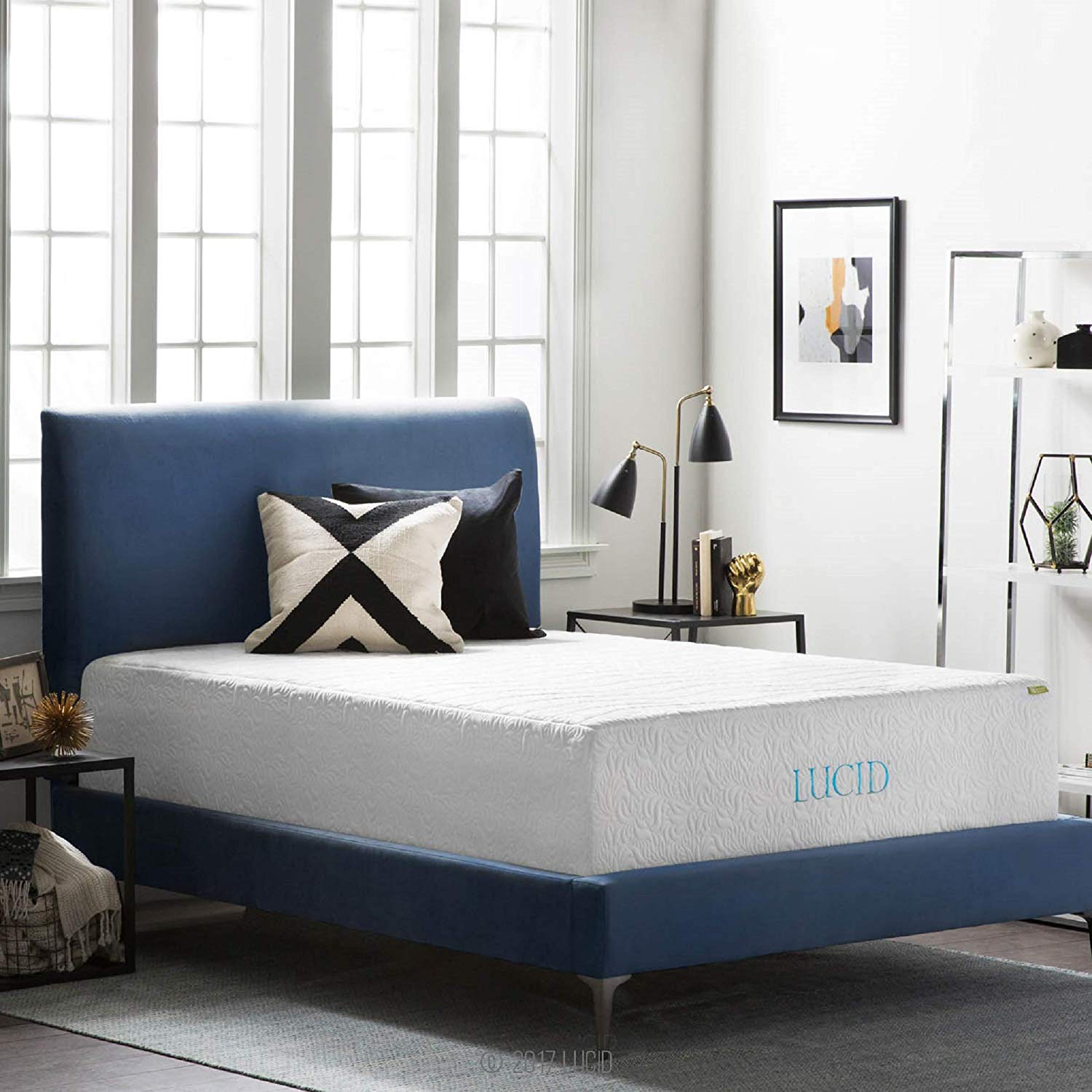 16 Inch Plush Gel Memory Foam and Latex Lucid Mattress Reviews by www.snoremagazine.com